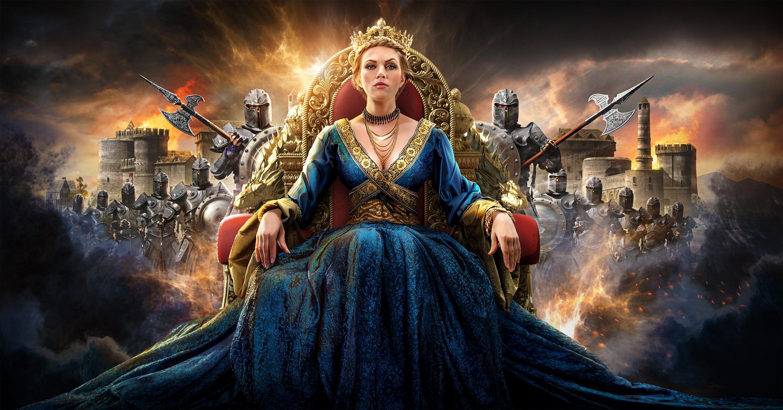 game queen blue dress