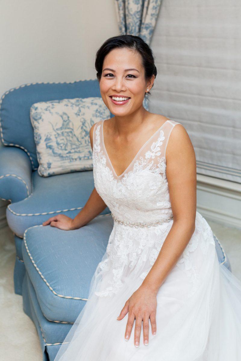 photo of a pretty bride in Dallas, Texas